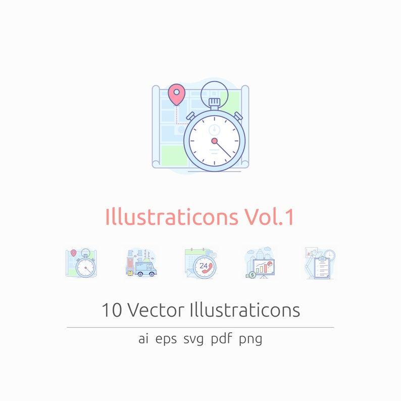 Illustraticons Vol. 1 in Vector and PNG image 0