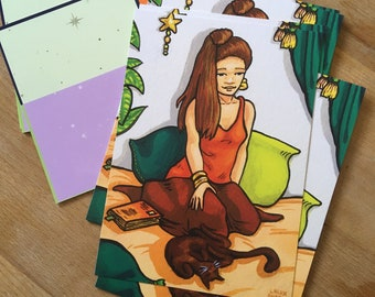 Drawing postcard illustration Happy place Sweetness of Living