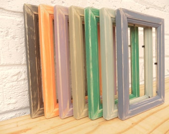 Vintage Photo/Picture Frames Distressed Shabby Chic Retro Choice of 7 Colours Choice of 5 Sizes Vintage Colours Weddings Gifts Hand Painted