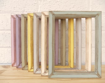 """Vintage Photo/Picture Frames Shabby Chic Retro Choice of 5 Sizes  7 Vintage Colours 6x4"""" 7x5"""" 8x6"""" 10x8"""" """"A4"""" Weddings Gifts Home Decor"""