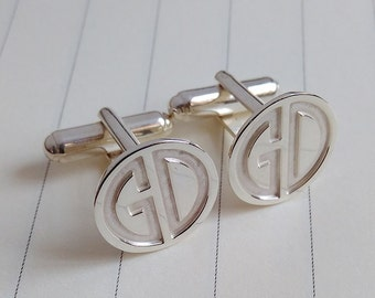Personalized Cufflinks,Wedding Cufflinks,Two Letter Monogram Cufflinks,Groom Cufflinks,Engraved Cufflinks,Father of the Bride Cufflinks