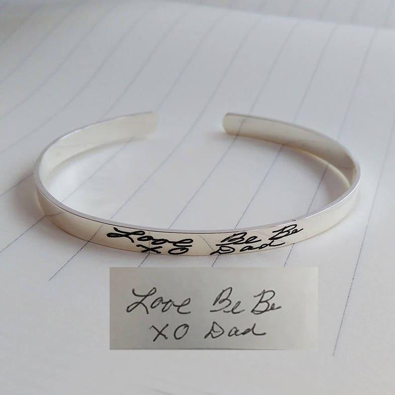 Handwriting Cuff Bracelet Rose Gold,Signature Cuff Bangle,Personalized Open Cuff Bracelet,Handwritten Bracelet,Christmas Gift,Christmas Gift