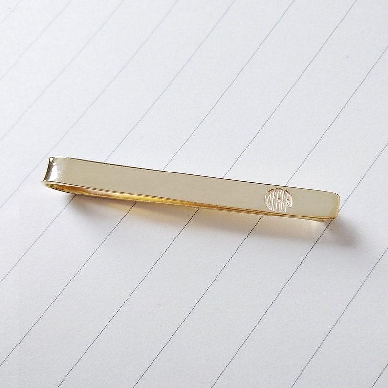 Monogram Tie Bar Clip,Custom Groomsmen Tie Clip,Personalized Wedding Tie Clip For Groom,Engraved Tie Clip,Bestman Tie Clip,Father/'s Day Gift