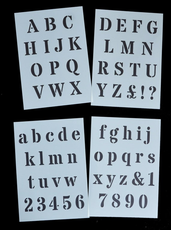 Alphabet ABC letters Mylar Reusable Stencil Airbrush Painting Art Craft DIY