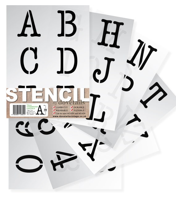 """Alphabet Stencil Letter//Numbers 100mm Tall Very Large Modern Capitals... 4/"""""""