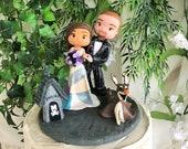 Nightmare Before Christmas Wedding Cake Topper Figurine