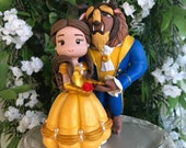 Beauty and the Beast Hand Crafted Wedding Cake Topper