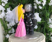 Sleeping Beauty and Super Hero Hand Crafted Wedding Cake Topper