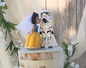 Star Wars Storm-trooper and Snow White - Wedding Cake Topper