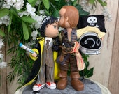 Doctor Who and Space Pirate Wedding Cake Topper Figurine