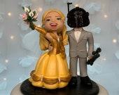Belle and Bounty Hunter Wedding Cake Topper Figurine