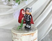 Ariel and Thor Hand Crafted Wedding Cake Topper