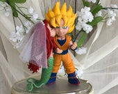 Ariel Little Mermaid and Goku Hand Crafted Wedding Cake Topper