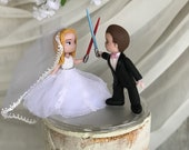 Star Wars Hand Crafted Wedding Cake Topper