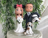 Star Wars and Disney Hand Crafted Wedding Cake Topper