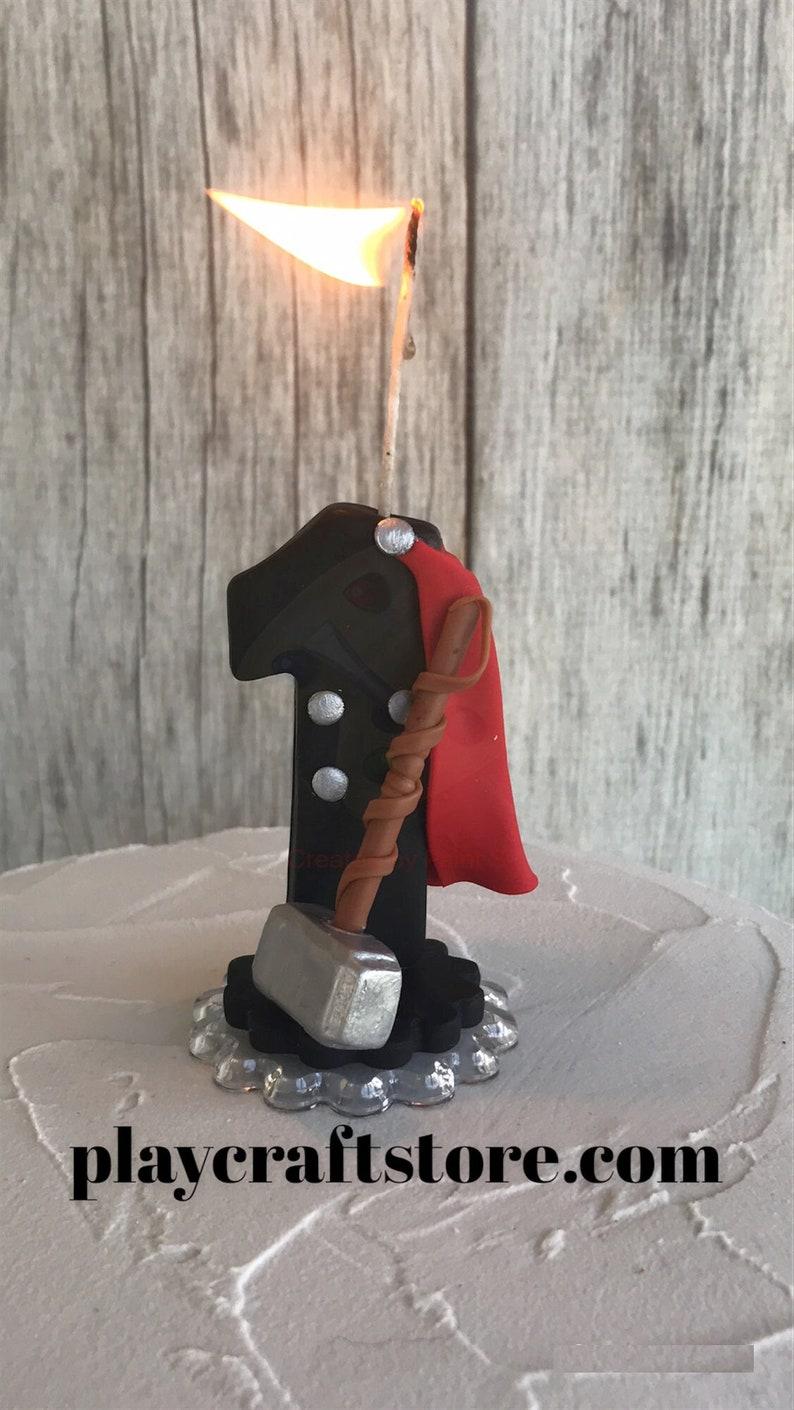 Thor Birthday Candle Thor First Birthday Marvel Birthday image 1