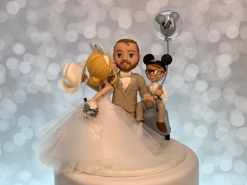 Family Cake Topper Wedding Cake Topper Disney Cake Topper image 1