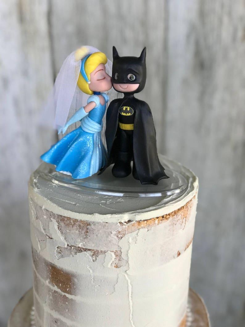 Batman Wedding Cake.Cinderella And Batman Wedding Cake Topper