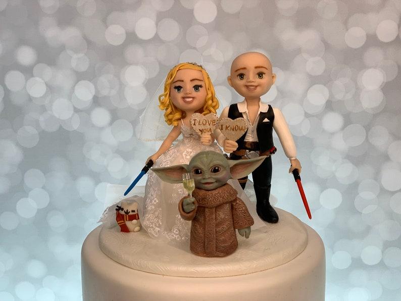 Baby Yoda Cake Topper Star Wars Cake Topper Cake Figurine image 1