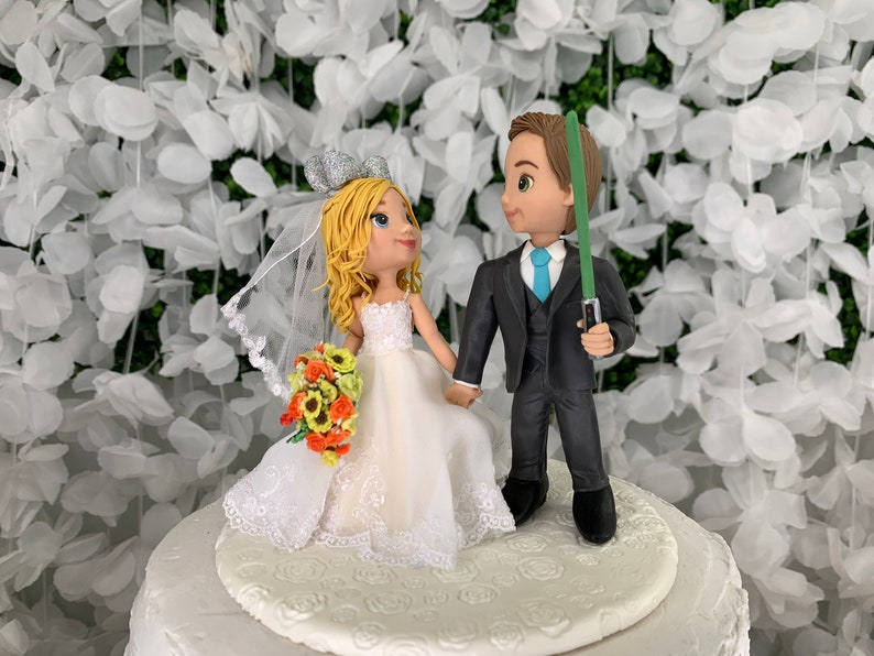 Traditional Wedding Cake Topper Figurine image 1