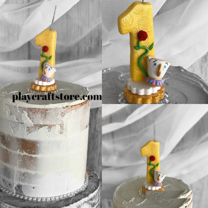 Chip Potts Candle Childrens Disney Candle Disney Inspired image 1