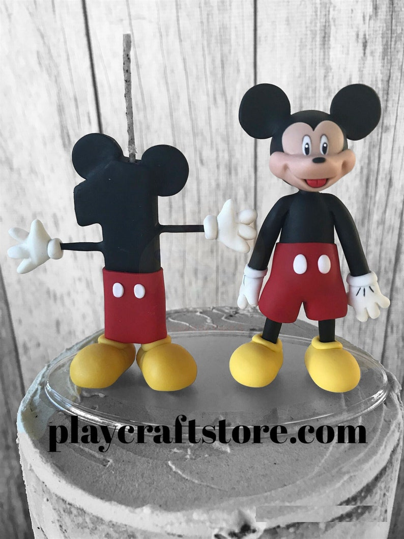 Mickey Mouse Birthday Candle Mickey Mouse First Birthday image 1