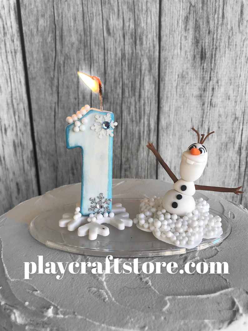 Snowman Celebration Candle  Keepsake  Figurine image 1