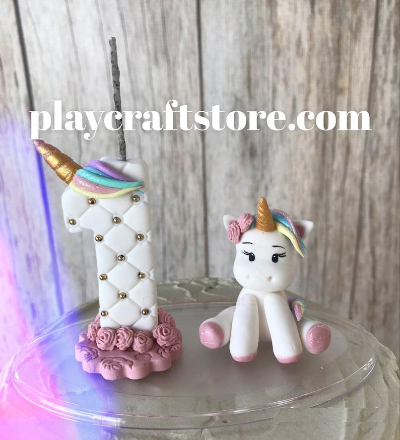 Unicorn Birthday Candle First Birthday Magical Birthday image 1