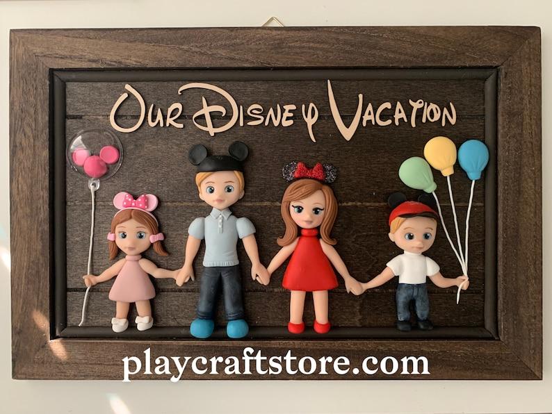 3D Family Portrait Sign Disney Vacation 3D Portrait Group image 1
