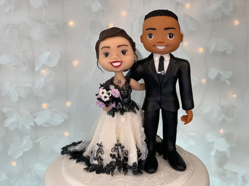 Classic Wedding Cake Topper Figurine image 1