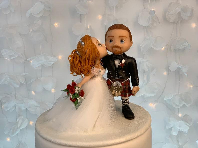 Scottish Wedding Cake Topper Figurine image 1