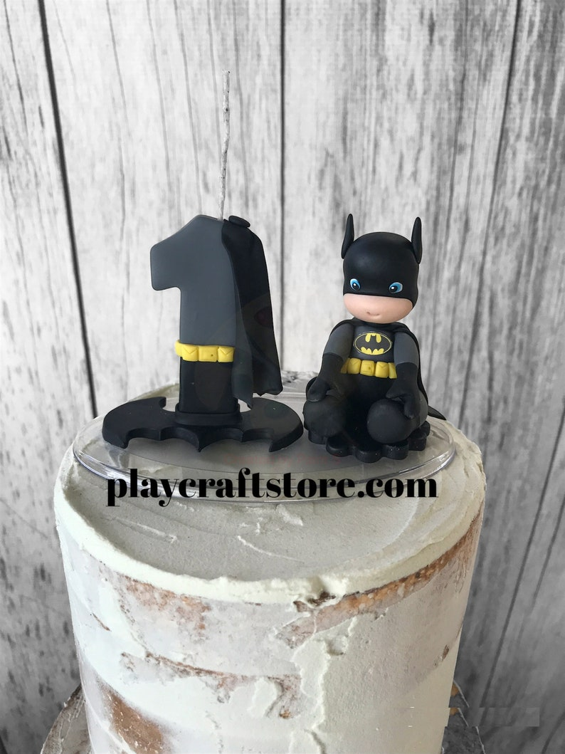 Batman Baby Birthday Candle  Marvel Birthday Number and image 1