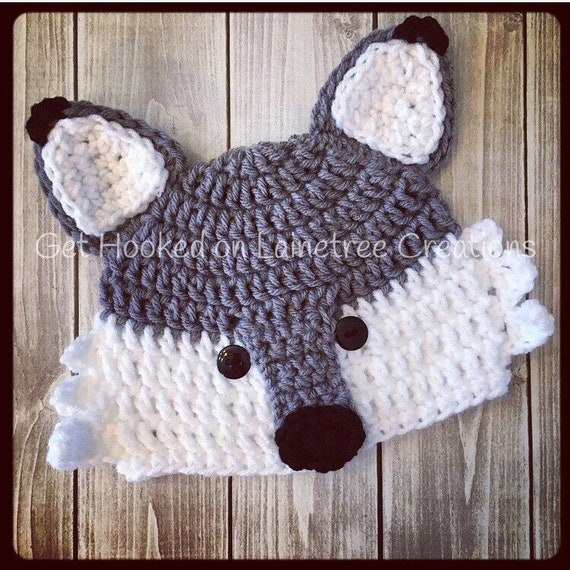 Wolf Hat Beanie for Newborn to Adult  ecbe304f84d