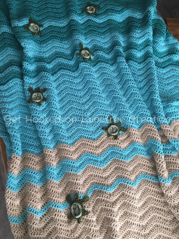 Sea Turtle Blanket Crochet Pattern Pdf Digital Download Etsy