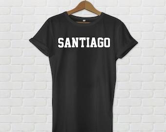 Santiago Varsity Style T-Shirt - Black