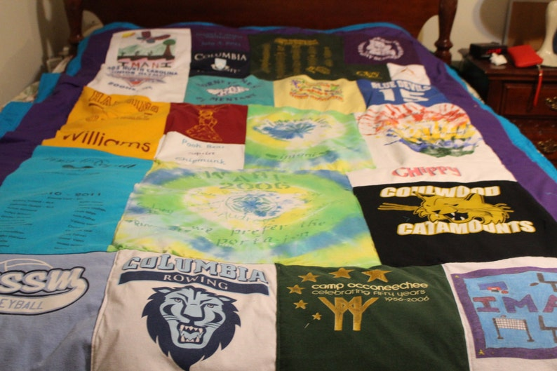 5 sizes available T-shirt quilt with fleece backing DEPOSIT ONLY  Perfect gift for anyone