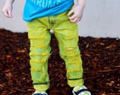 Mel Jeans - baby , toddler , kids - Boy 39 s hand - dyed distressed cutoff shorts OR skinnies (Sizes 6m-12y) custom kids denim jeans
