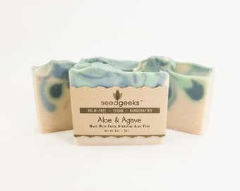 Aloe & Agave Soap - Handcrafted Soap, Homemade Soap, Natural Soap, Handmade Soap, Aloe Soap, Palm Free Soap, Cold Process Soap