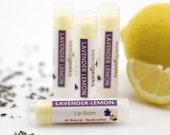 Lavender Lemon Handmade Lip Balm - All Natural, Handcrafted, Beeswax, Chapstick