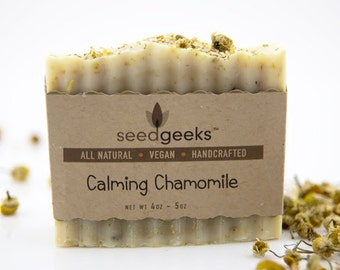 Calming Chamomile Handcrafted Soap - All Natural Soap, Handmade Soap, Vegan Soap, Cold Process Soap