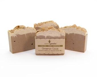 Cinnamon Cocoa Soap - Handmade Soap, Natural Soap, Homemade Soap, Vegan Soap, Cold Process Soap, Smells Good Enough To Eat
