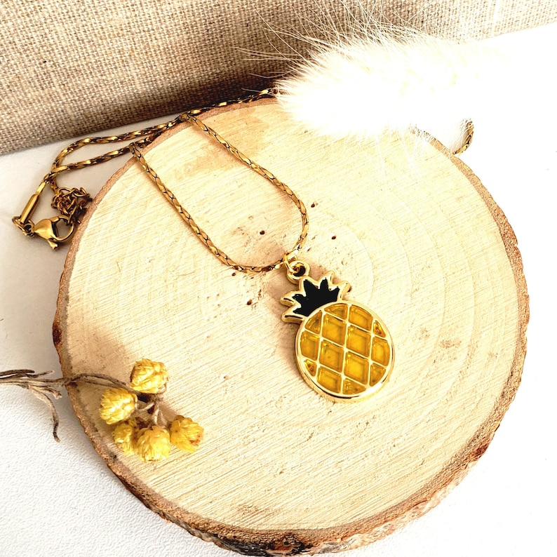Fruit Jewelry Pineapple Jewelry Pineapple Woman Necklace