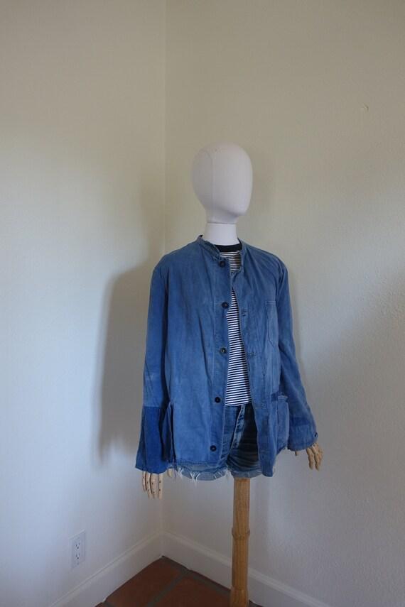 Vintage French work wear Chore Coat/ Jacket , Medi