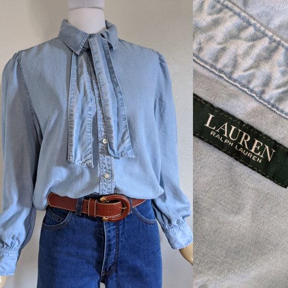 Ralph Lauren Vintage Denim/Chambray button down Bl