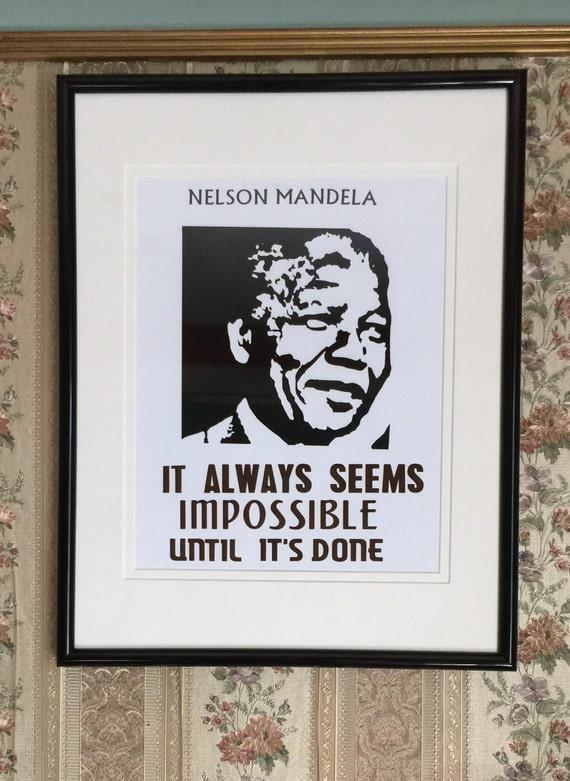 NELSON MANDELA POSTER Let Freedom Reign RARE HOT NEW