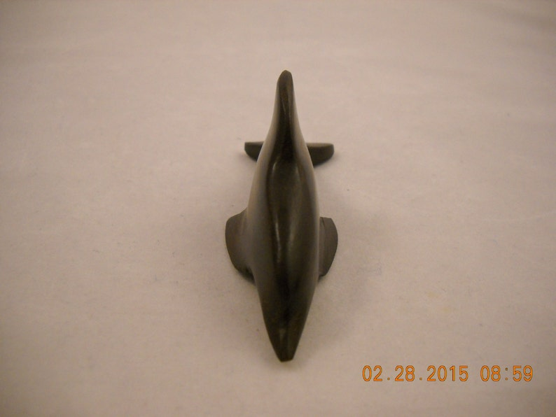 MINIATURE Carved Wood Dolphin Great for Crafting