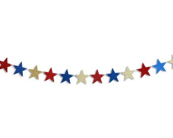 Star Banner, Star garland, Happy 4th of July banner, Happy 4th of July garland, 4th of July decoration, Star decoration