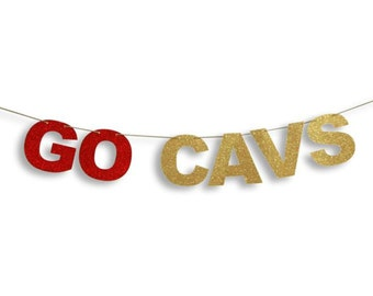 """Cleveland Cavaliers """"Go Cavs"""" banner, Cleveland Cavs banner, Cleveland Cavaliers basketball banner"""