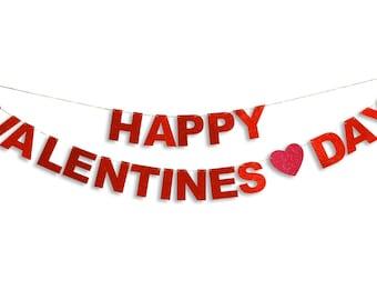 HAPPY VALENTINES DAY Garland, Happy Valentines Day Banner, Valentines Day Banner, Valentines Day decoration