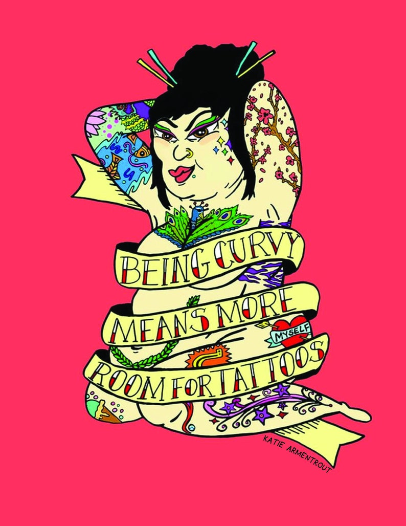 Being Curvy Means More Room for Tattoos_Red image 0